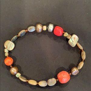 Silpada coral stretch bracelet